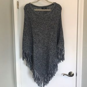 Sweater-knit Poncho